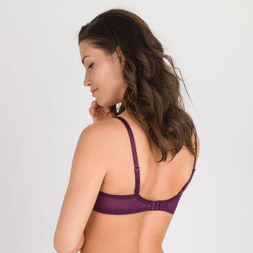 Soutien-gorge balconnet imprimé violet - Daily Elegance-PLAYTEX