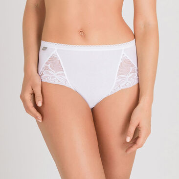 2 Culottes Midi blanches – Coton & Dentelle-PLAYTEX