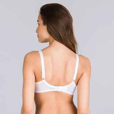 Soutien-gorge emboîtant blanc – Cœur Croisé Microfibre-PLAYTEX