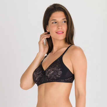 Soutien-gorge sans armatures noir gris - Ideal Beauty Lace-PLAYTEX