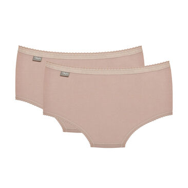 2 Culottes Midi coloris peau  – Coton Stretch-PLAYTEX