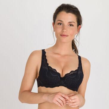 Soutien-gorge paddé noir – Flower Elegance-PLAYTEX