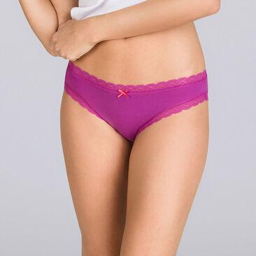 2 culottes fleurs violettes - Basic Cotton Fancy-PLAYTEX