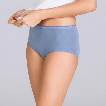 3 culottes Maxi violette, parme et blanche - Coton Stretch-PLAYTEX