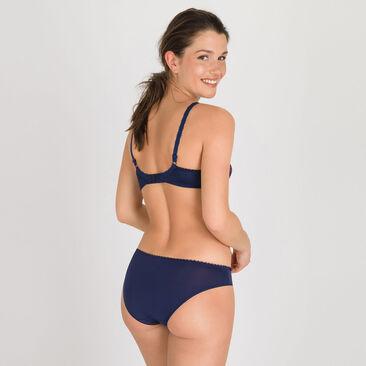 Culotte mini bleue violette - Flower Elegance-PLAYTEX