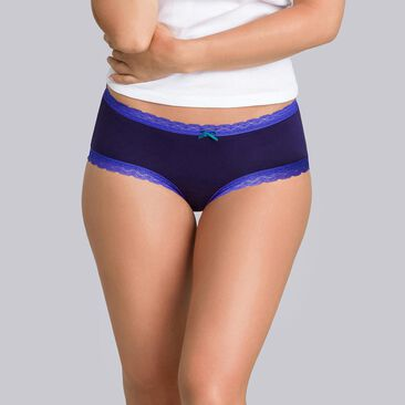 2 shorties bleu fleuri - Coton Fancy-PLAYTEX