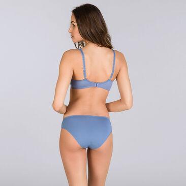 Culotte Mini bleu jean bicolore - Flower Elegance-PLAYTEX