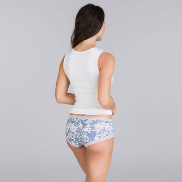 2 shorties fleurs lilas - Basic Cotton Fancy-PLAYTEX