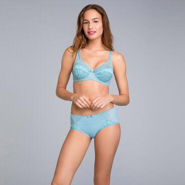 Soutien-gorge emboîtant en dentelle bleu lagon - Cœur Croisé Féminin, , PLAYTEX