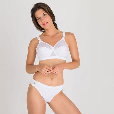 3 Culottes hautes échancrées blanches – Coton Stretch-PLAYTEX