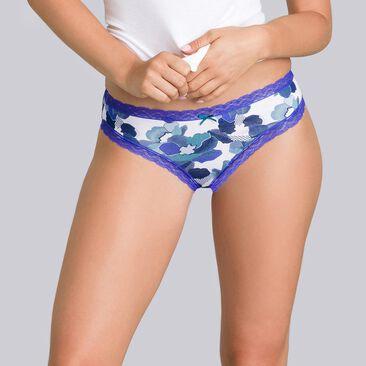 2 culottes bleues et imprimé fleuri - Coton Fancy-PLAYTEX