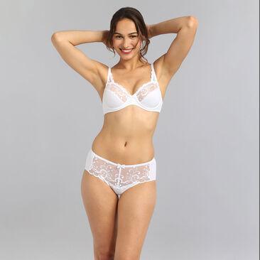 Culotte blanche Essential Elegance Broderie, , PLAYTEX