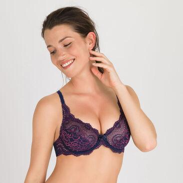 Soutien-gorge emboîtant bleu violet - Flower Elegance-PLAYTEX