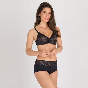 Shorty noir gris - Ideal Beauty Lace, , PLAYTEX