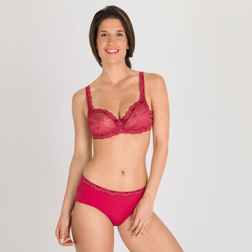 Culotte midi rouge paillettée - Invisible Elegance-PLAYTEX