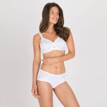 Soutien-gorge sans armatures blanc – Cœur Croisé Dentelle-PLAYTEX