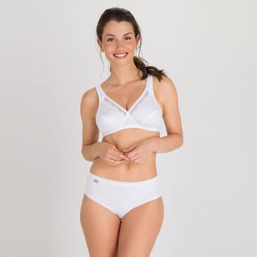2 Soutiens-gorge sans armature blanc – Cœur Croisé Coton-PLAYTEX