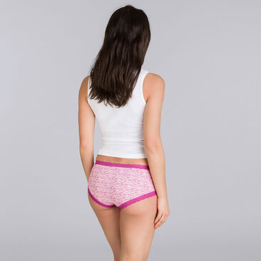2 shorties mix violet - Basic Cotton Fancy-PLAYTEX