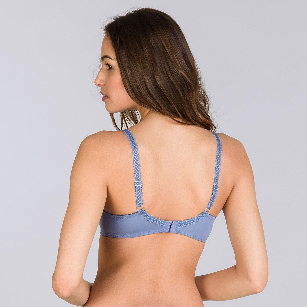 Soutien-gorge balconnet bleu jean bicolore - Flower Elegance-PLAYTEX