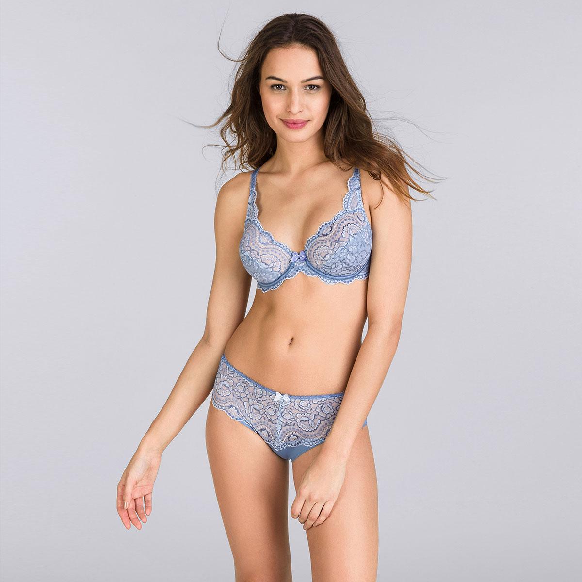 Culotte Midi bleu jean bicolore - Flower Elegance-PLAYTEX