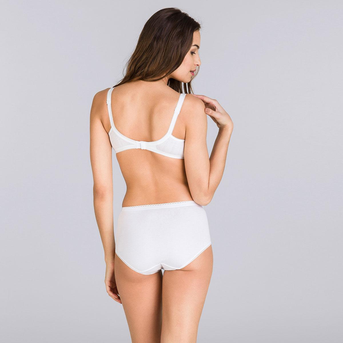 Soutien-gorge sans armatures blanc – Cœur Croisé Coton-PLAYTEX