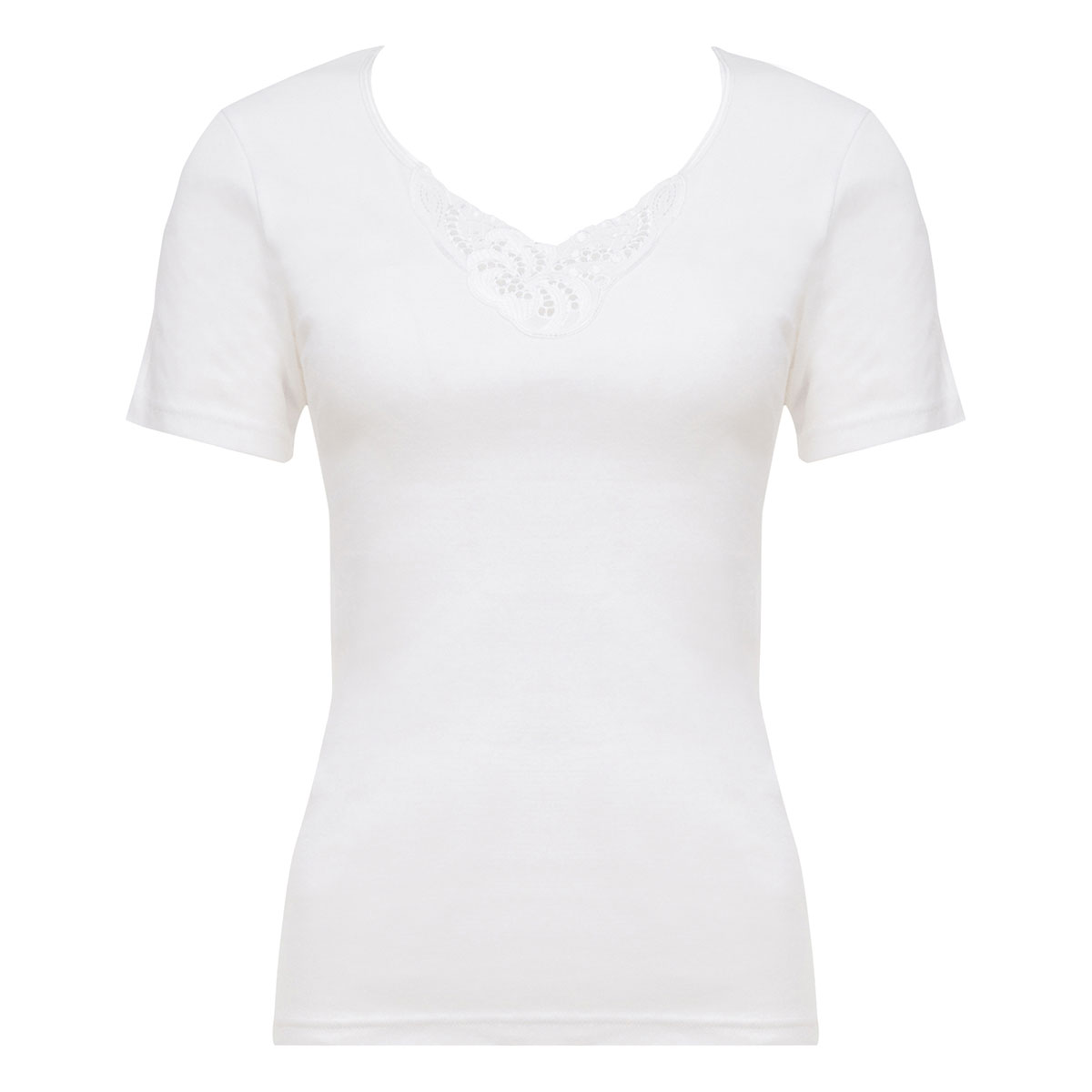 Top manches courtes blanc - Cotton Feminine-PLAYTEX