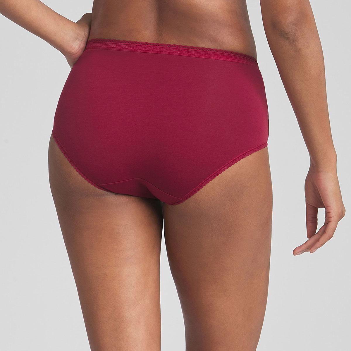 Lot de 3 culottes midi rouge foncée, blanche et bleu marine Cotton Stretch, , PLAYTEX
