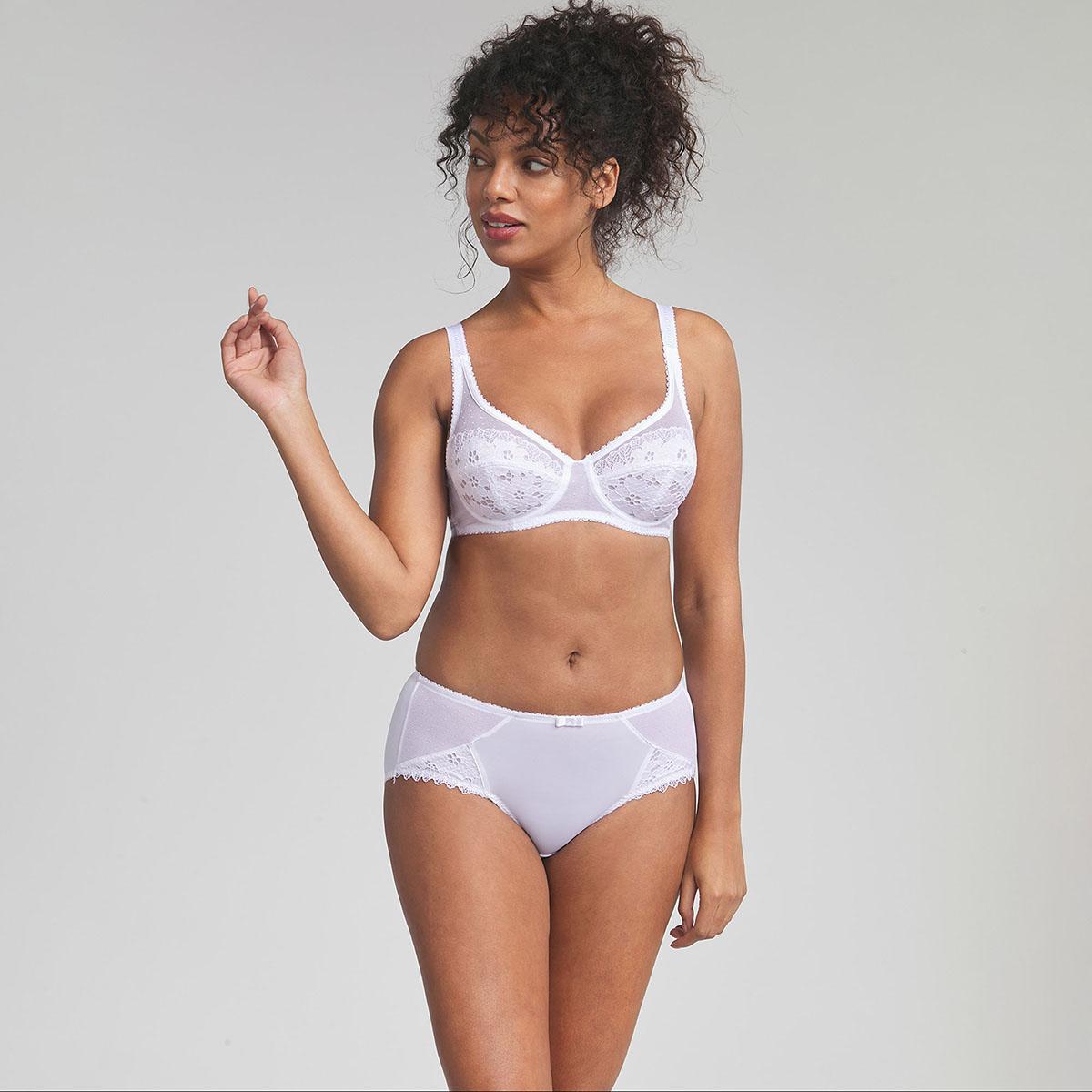 Soutien-gorge emboîtant blanc  – Cœur Croisé Dentelle, , PLAYTEX