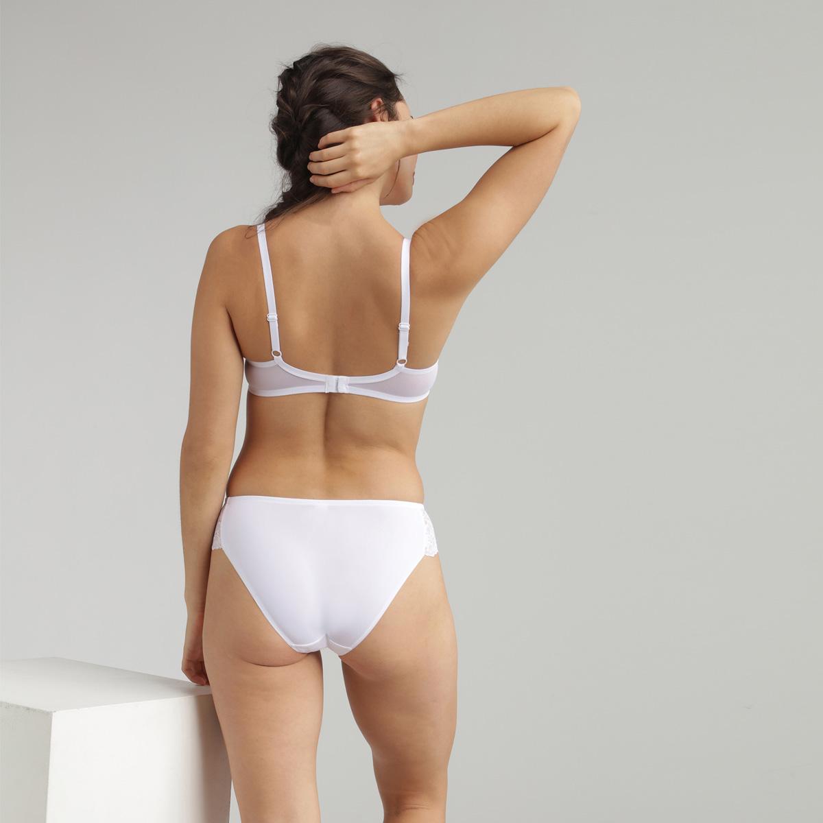 Culotte mini en dentelle blanche Essential Elegance, , PLAYTEX