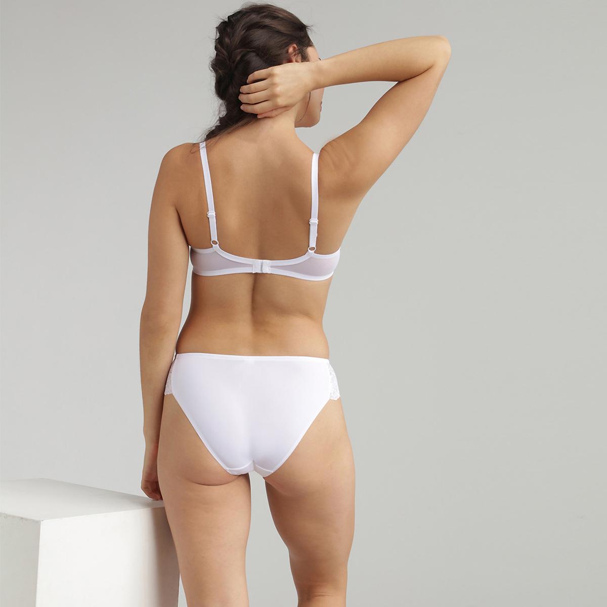 Soutien-gorge dentelle corbeille blanc Essential Elegance, , PLAYTEX