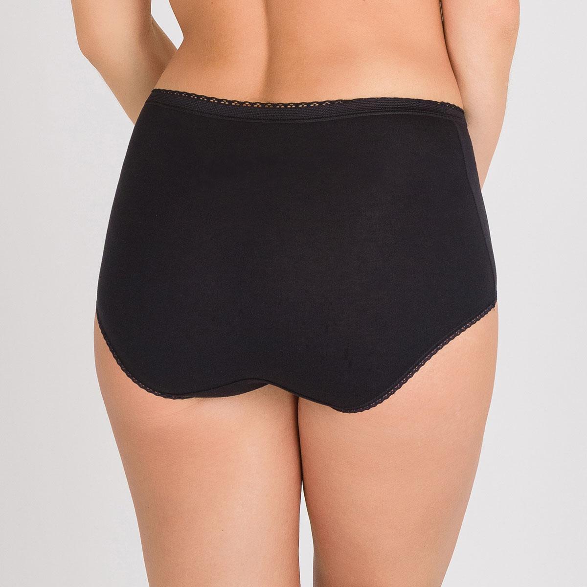 2 Culottes Maxi noires – Coton Stretch, , PLAYTEX