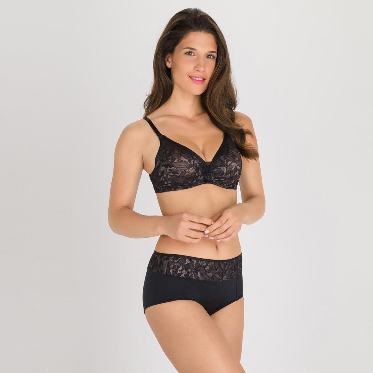 Soutien-gorge emboîtant noir gris - Ideal Beauty Lace, , PLAYTEX