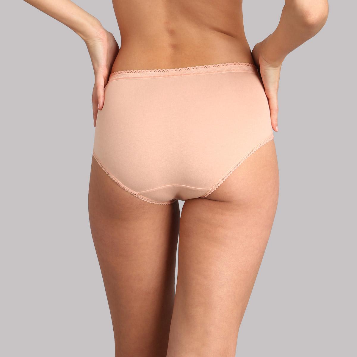Lot de 3 culottes midi verte, blanche et rose pâle Coton Stretch, , PLAYTEX