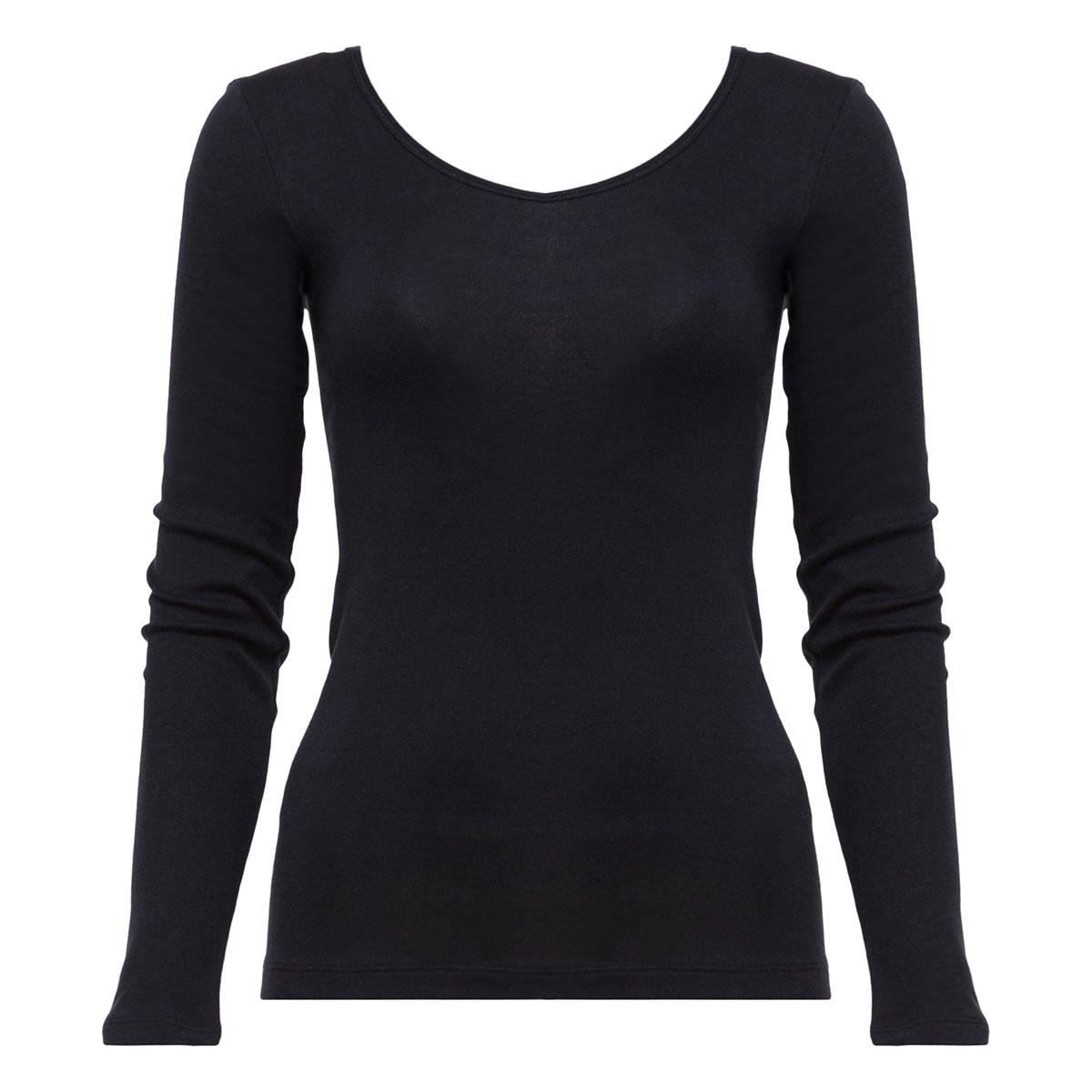Top manches longues noir - Cotton Liberty-PLAYTEX