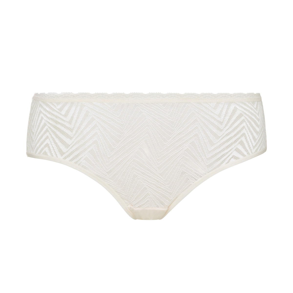 Culotte midi dentelle ivoire Ideal Posture, , PLAYTEX