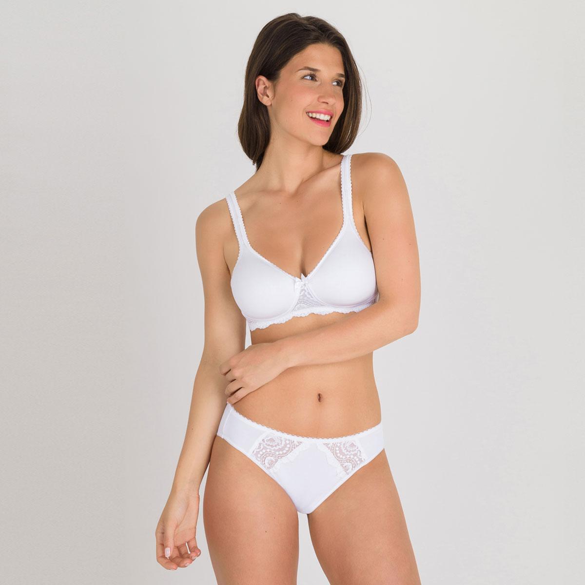 Culotte Mini blanche - Flower Elegance-PLAYTEX