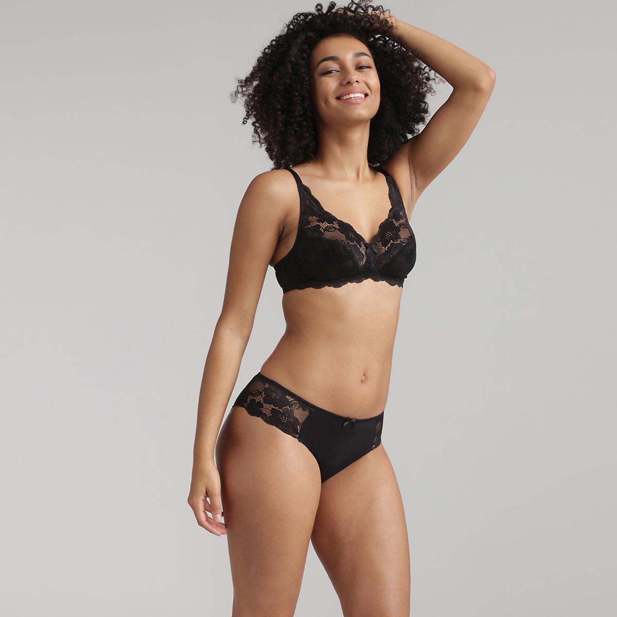 Soutien-gorge emboîtant dentelle noir sans armatures Essential Elegance, , PLAYTEX