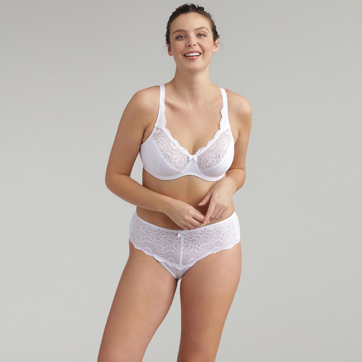 Soutien-gorge emboîtant blanc Flower Elegance Micro, , PLAYTEX