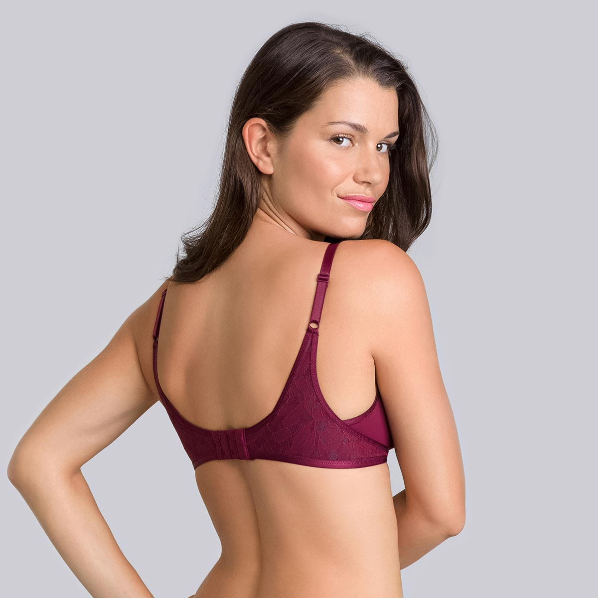 Soutien-gorge sans armatures bordeaux gris Ideal Beauty Lace-PLAYTEX