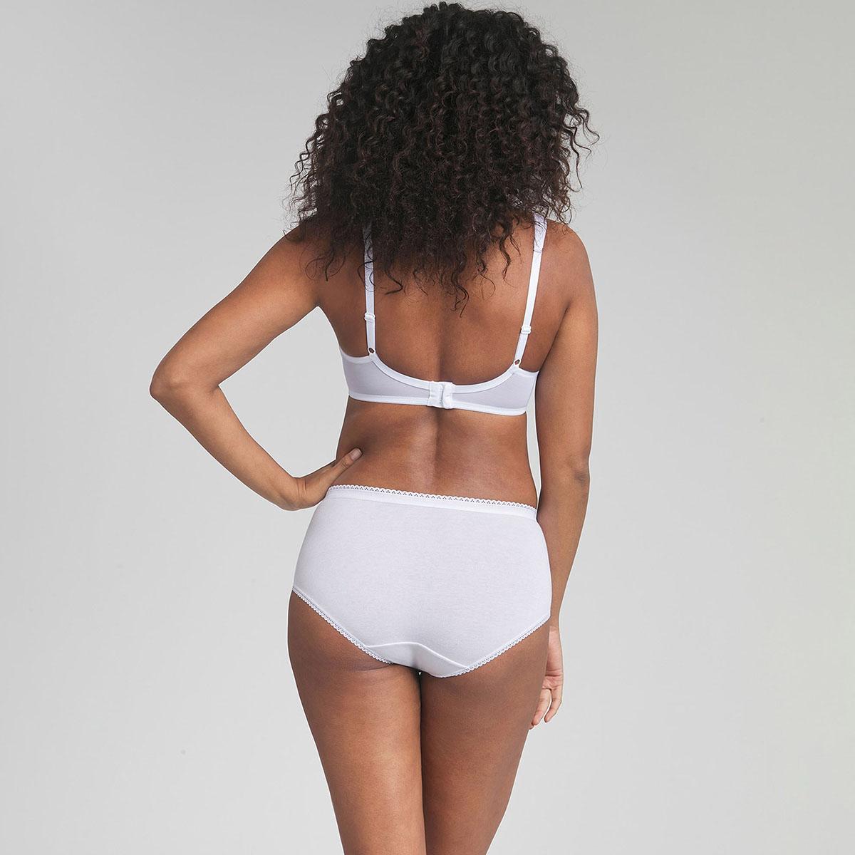 3 Culottes Midi blanches - Coton Stretch, , PLAYTEX