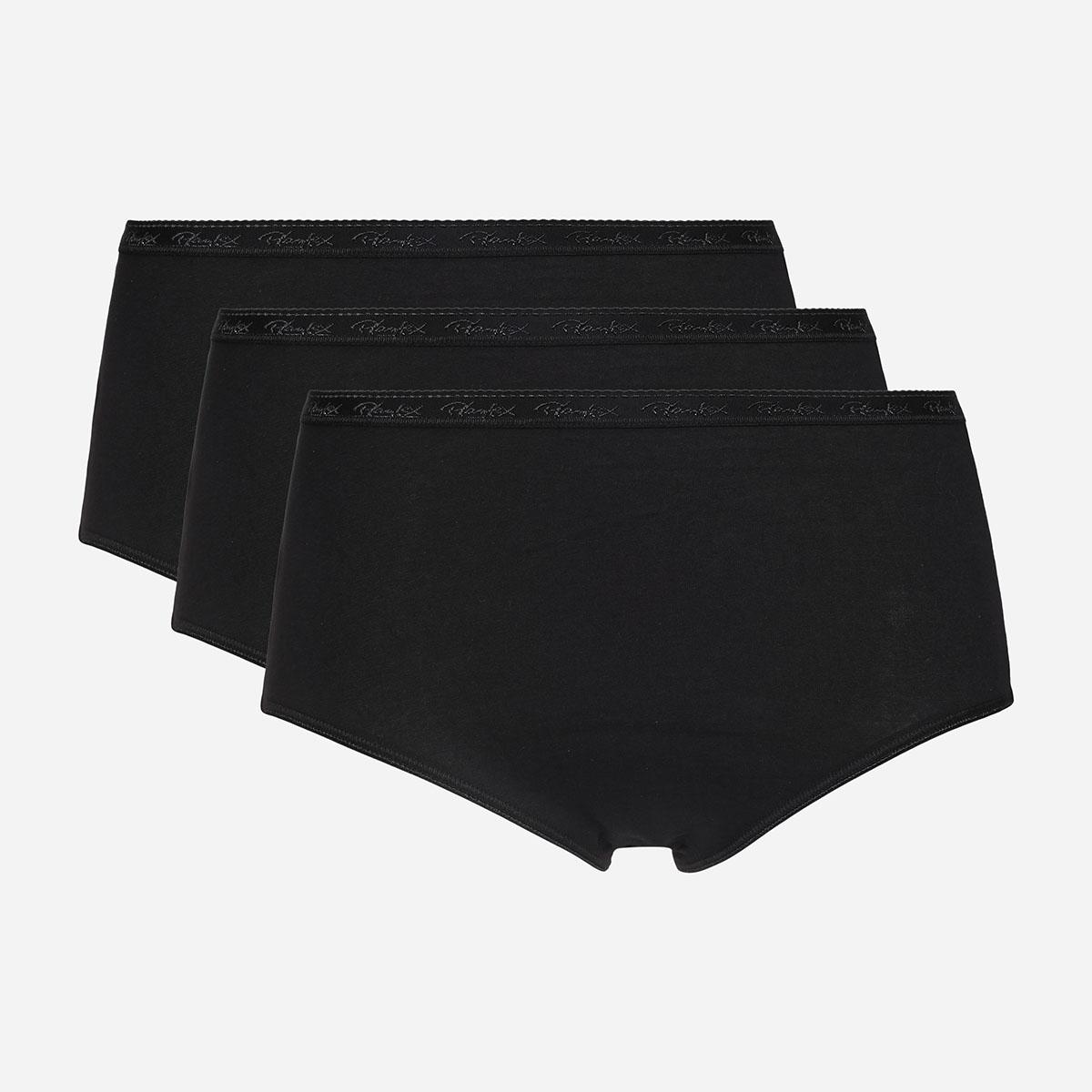 Lot de 3 culottes noires Coton Bio, , PLAYTEX