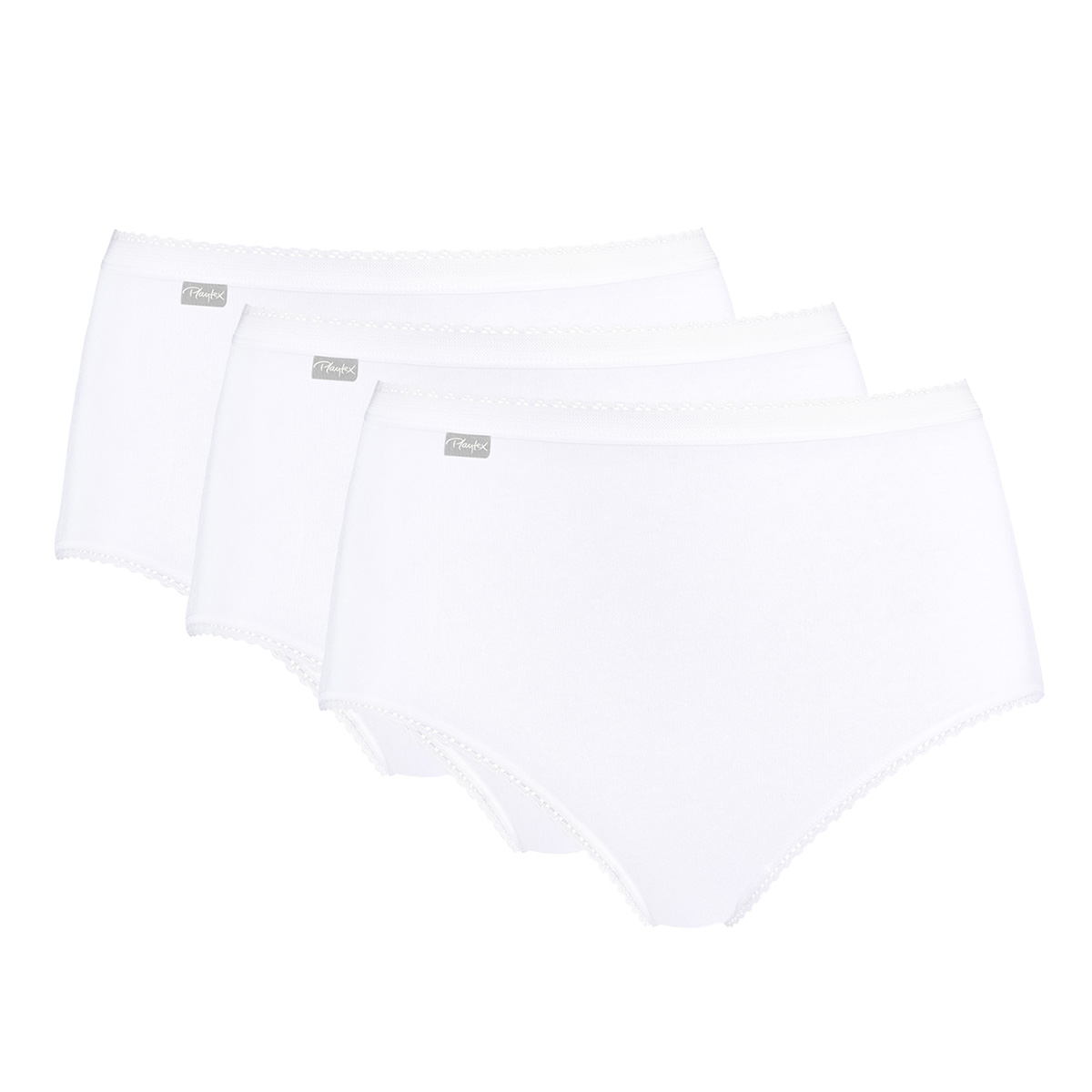 3 Culottes Midi blanches - Coton Stretch, , PLAYTEX