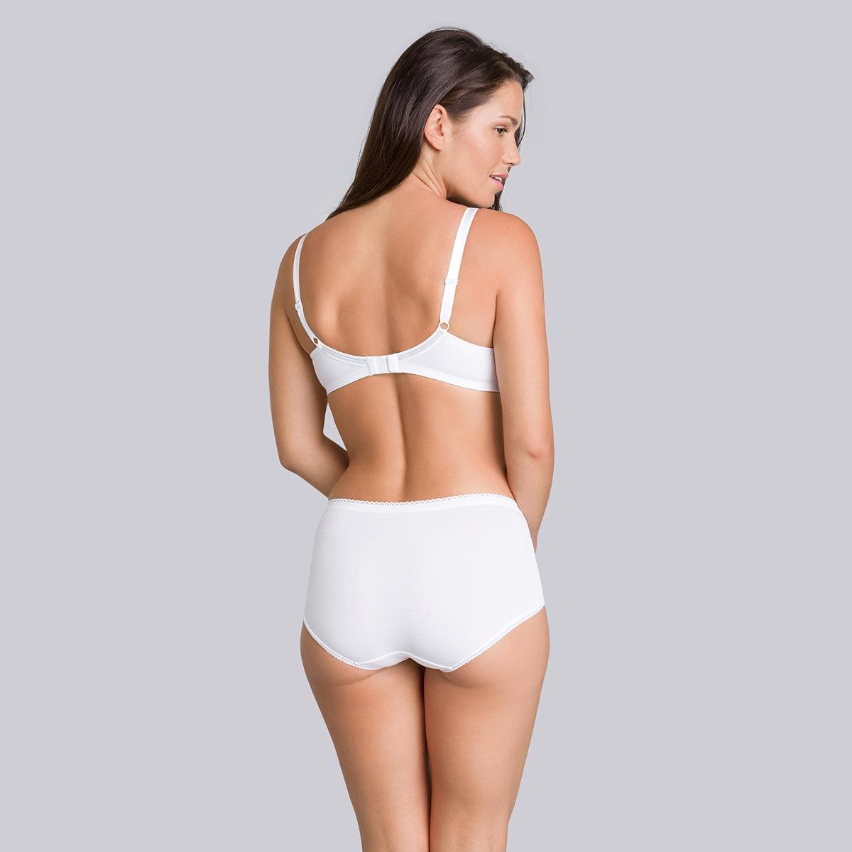 Soutien-gorge sans armatures en coton blanc - Cœur Croisé Coton-PLAYTEX