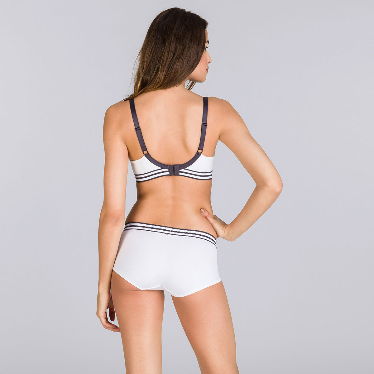 Soutien-gorge sans armatures blanc & gris - Sporty Chic-PLAYTEX