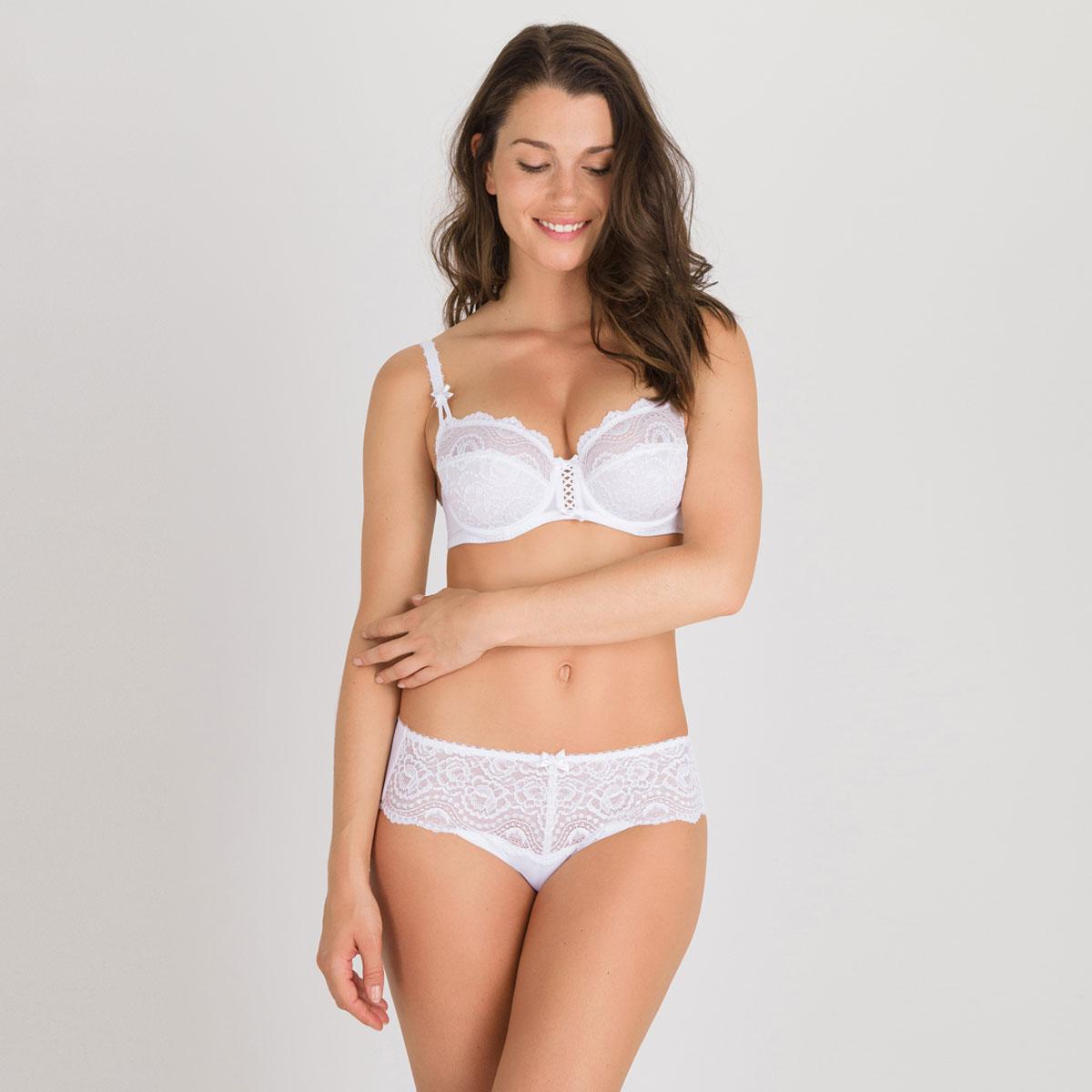 Soutien-gorge balconnet blanc - Flower Elegance-PLAYTEX
