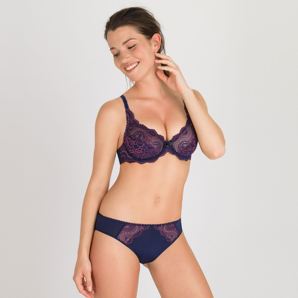 Culotte mini bleue violette - Flower Elegance-PLAYTEX