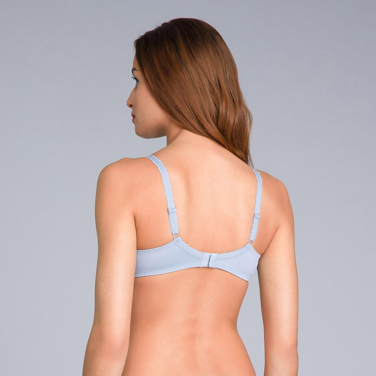 Soutien-gorge emboîtant gris bleuté imprimé - Flower Elegance Micro, , PLAYTEX