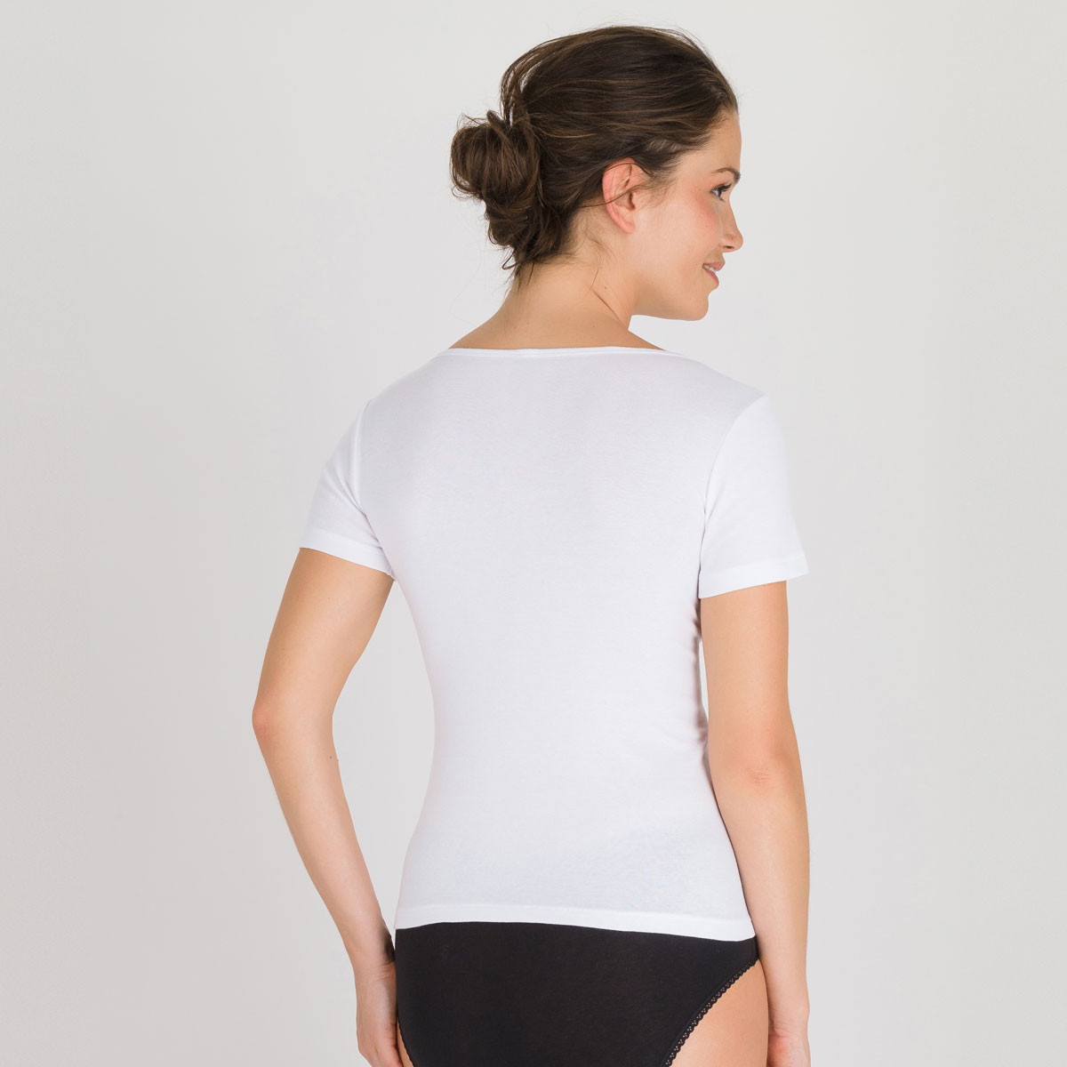 Top manches courtes blanc - Cotton Liberty-PLAYTEX