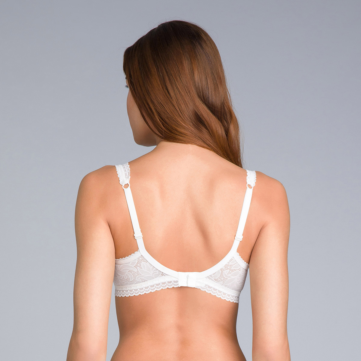 Soutien-gorge invisible balconnet blanc ivoire - Invisible Elegance, , PLAYTEX