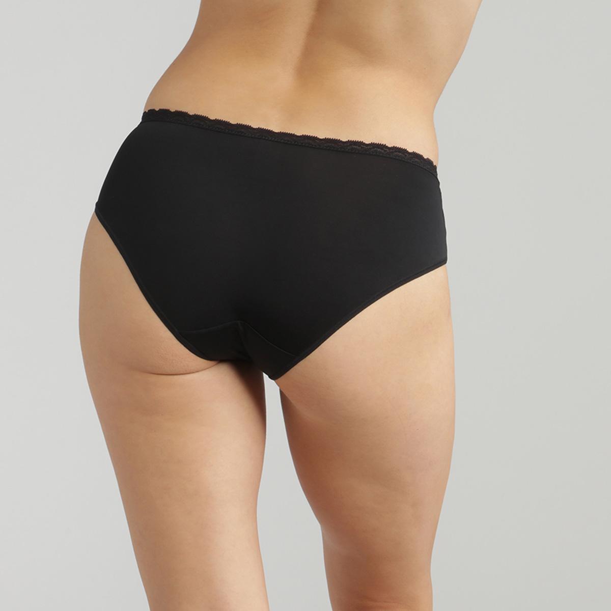 Culotte midi dentelle noire Ideal Posture, , PLAYTEX